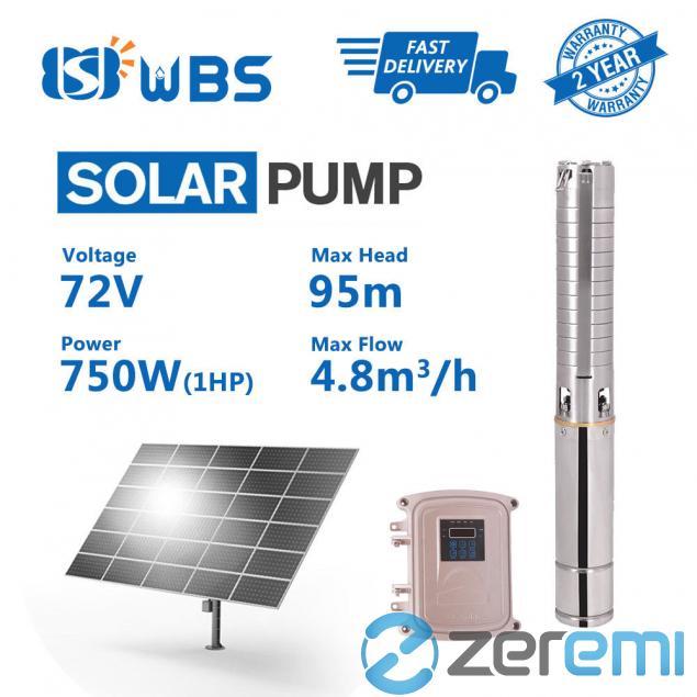 Zeremi Wbs 3 Dc Deep Well 1hp Solar Water Pump S S Impeller
